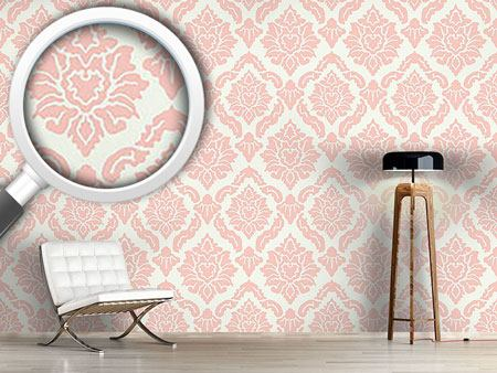 Papier peint design Pop Baroque Rose