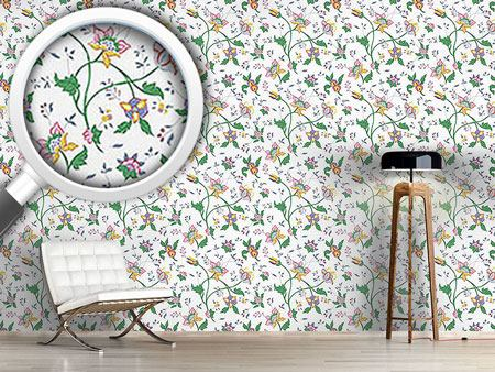 Design Wallpaper Little Flower Fantasy White