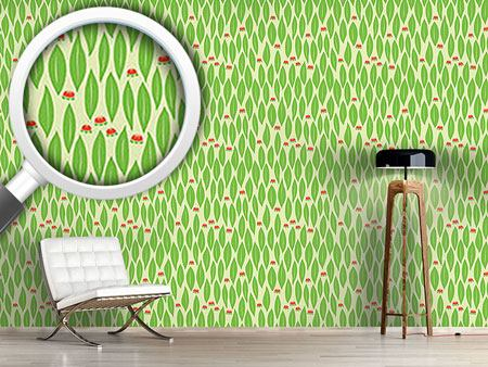 Papier peint design Time Out In Green