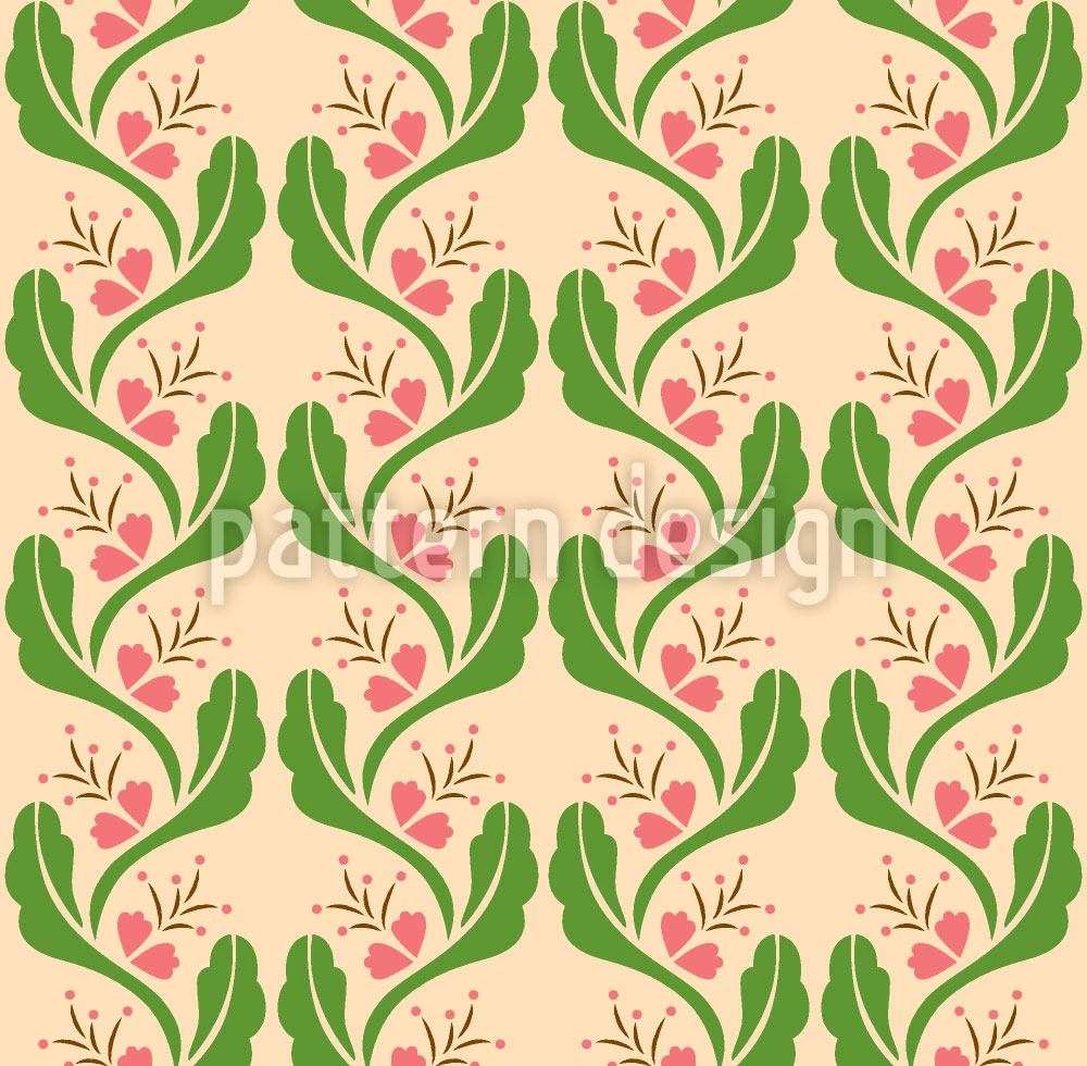 Design Wallpaper Tendrils With Pink