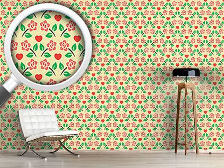 Design Wallpaper Hearts And Roses