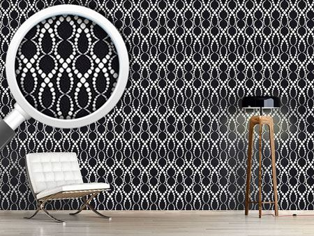 Design Wallpaper Black And White Pearls