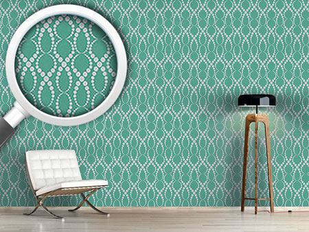 Design Wallpaper Emerald Pearls