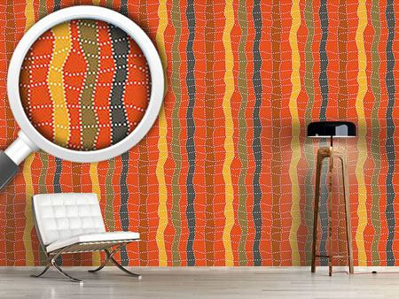 Design Wallpaper Aborigine Checks