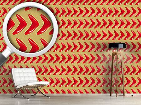 Design Wallpaper Red Boomerang