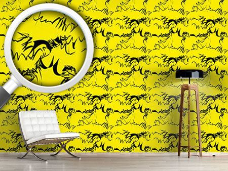 Design Wallpaper Calligraphy On Yellow