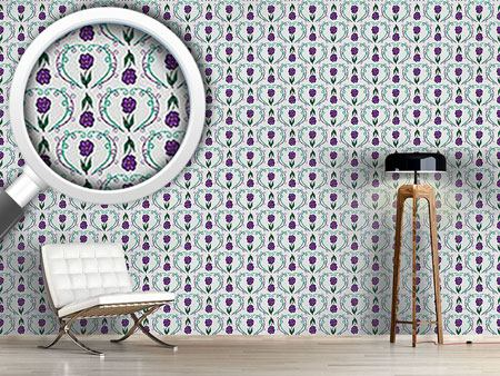 Design Wallpaper Flowers With Tendrils