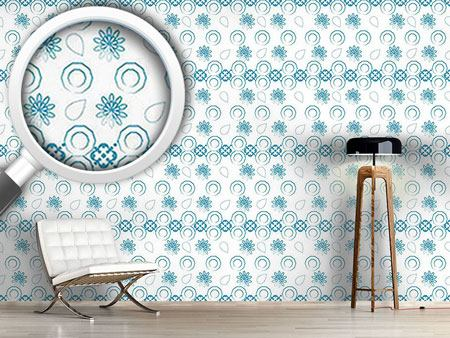 Design Wallpaper Floral Pattern Light
