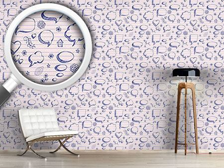 Design Wallpaper Speach Bubbles On Paper