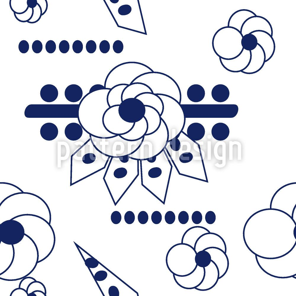 Designtapete Blumen Blues