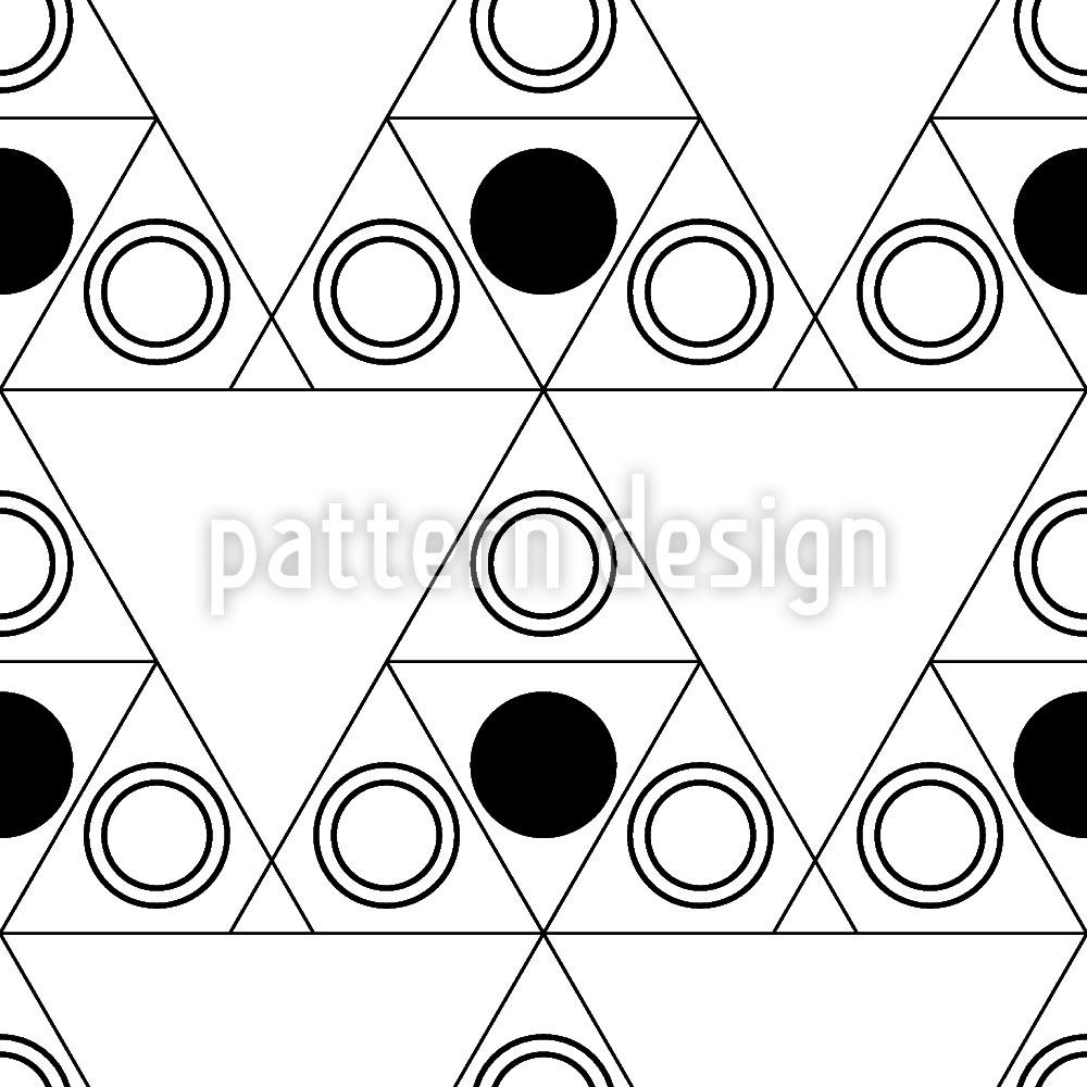 Papel tapiz de diseño Triple Dot Black