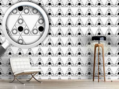 Papier peint design Triple Dot Black