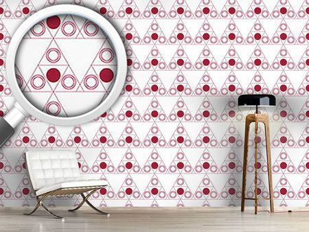 Design Wallpaper Triple Dot Red
