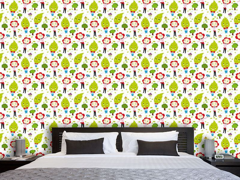 Papier peint design Family Green