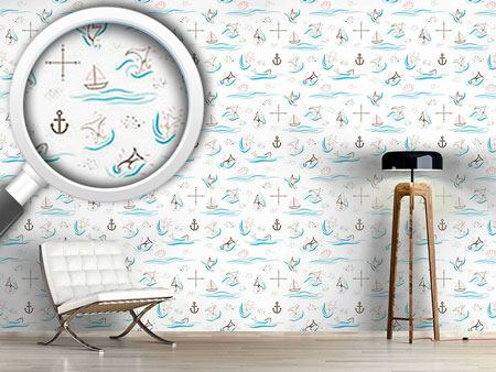 Design Wallpaper Whale Watching