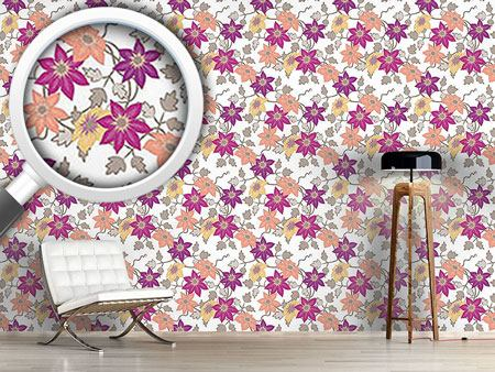 Design Wallpaper Clematis Dreamgarden In White