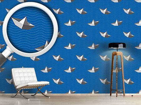 Design Wallpaper Paperboats