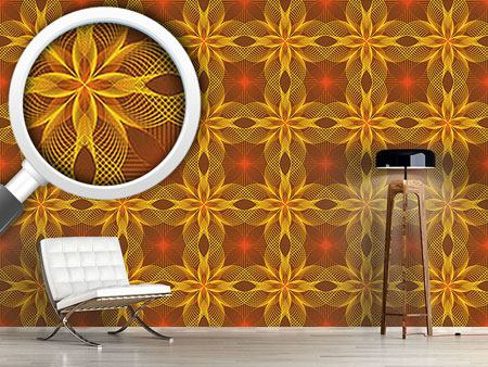 Design Wallpaper Flower Geometry