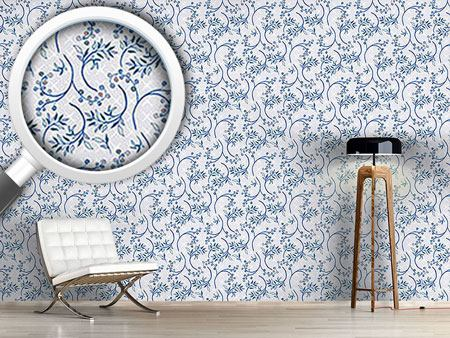 Design Wallpaper Blueberry Blue