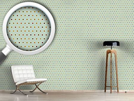 Design Wallpaper Polkadots Pale Blue