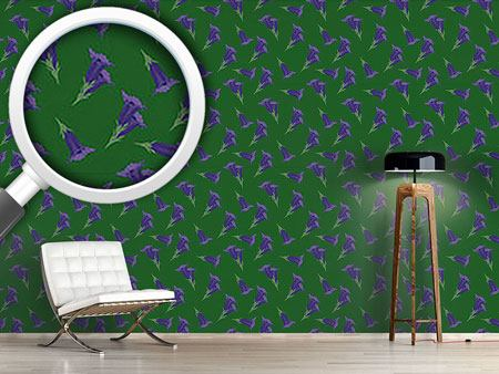 Design Wallpaper Gentian Green