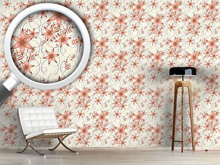 Design Wallpaper Floral Stars