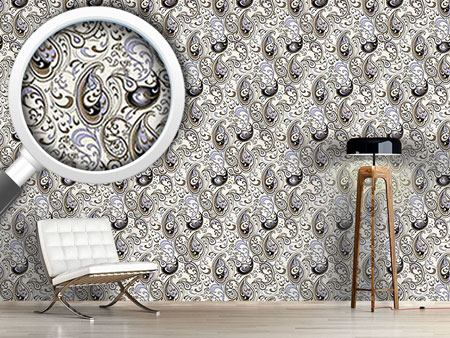 Design Wallpaper Paisley Ocean