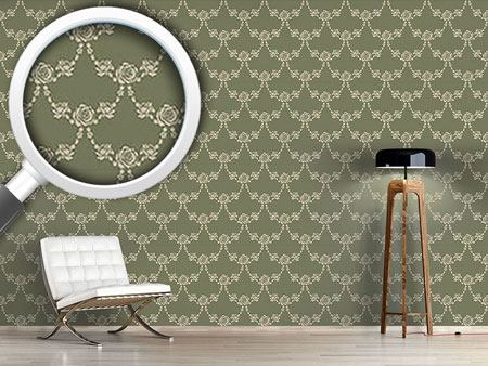 Design Wallpaper English Roses Green