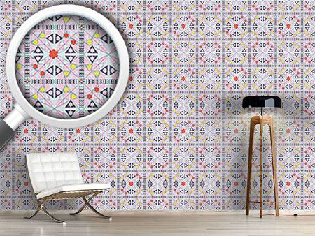 Design Wallpaper Mosaic With Flowers