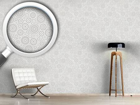 Papier peint design Secession Grey