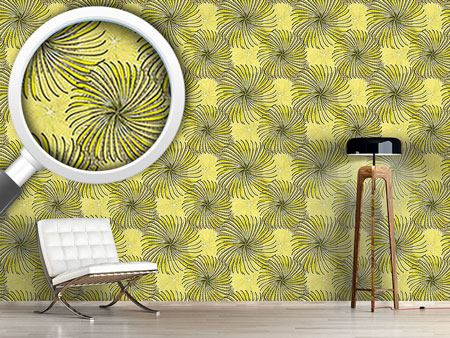 Design Wallpaper Turning Wheels Yellow