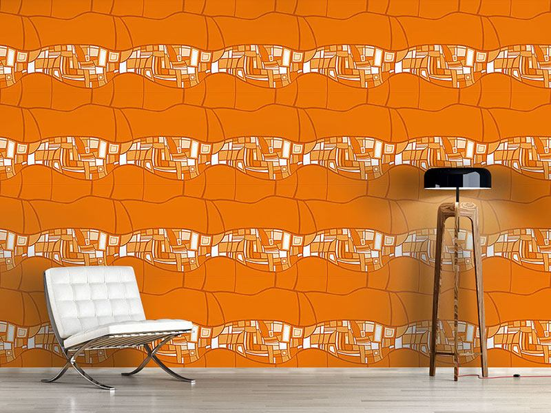 Papier peint design Stilismo Orange