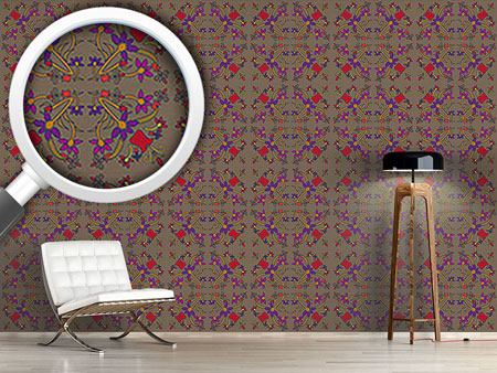 Design Wallpaper Oriental Flowers