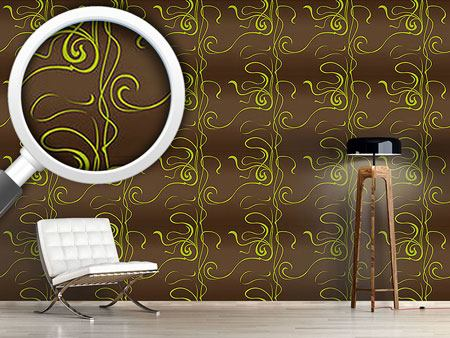 Design Wallpaper Moulin Nouveau Brown