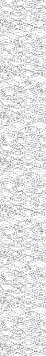 Design Wallpaper Heart Lenghts White