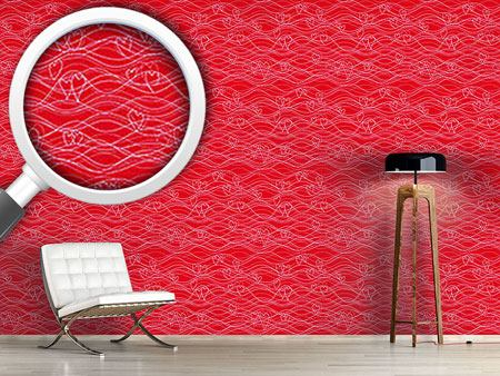 Design Wallpaper Wavelenght Red