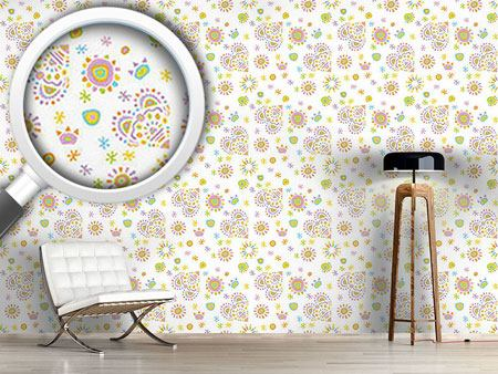Design Wallpaper Gipsy Heart White