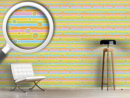 Design Wallpaper Funny Stripes And Circles