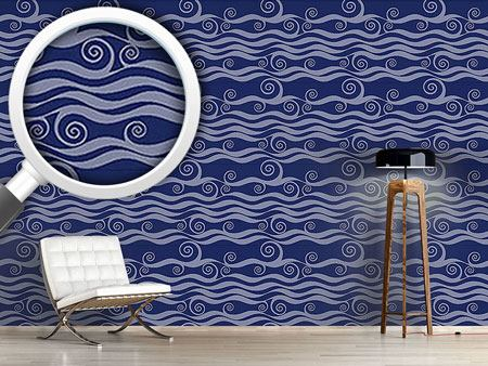 Design Wallpaper Waves And Twirls