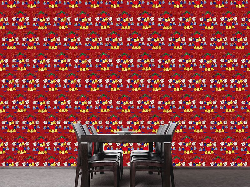 Design Wallpaper Carillon Red