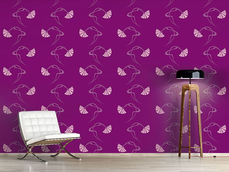 Papier peint design Burlesque Purple