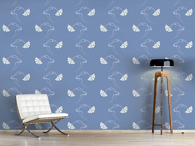 Design Wallpaper Burlesque Blue