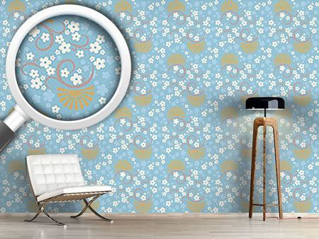 Design Wallpaper Eastern Magic Blue