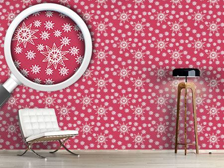 Design Wallpaper Stars On Wire Red