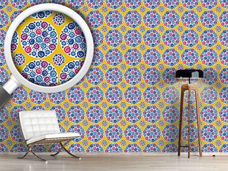 Design Wallpaper Flower Bouquet Yellow