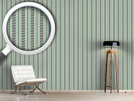 Design Wallpaper Pastel Green Stripes