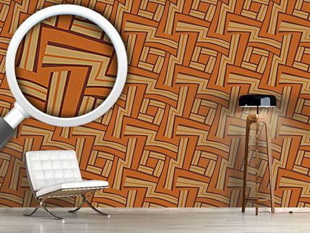 Design Wallpaper Maze Brown