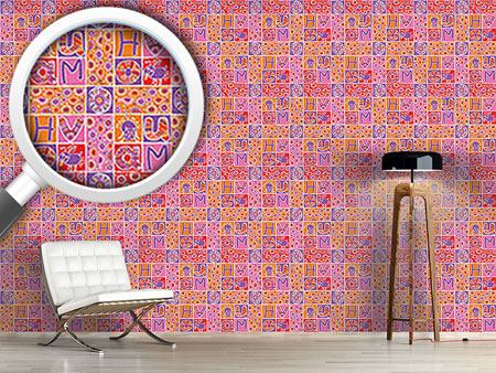 Design Wallpaper Animal Patchwork