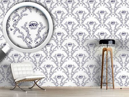Design Wallpaper Emmas Cherries Blue