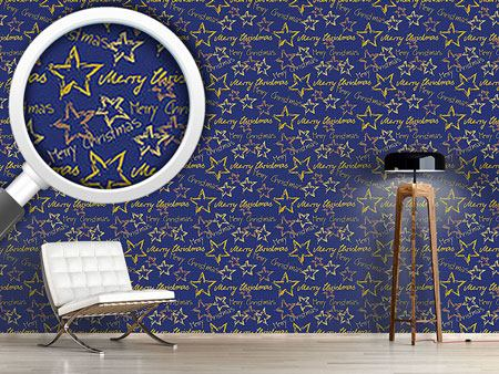 Design Wallpaper Merry Christmas Blue